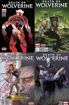 DEATH OF WOLVERINE 1 2 3 4 Steve McNiven Art / Marvel Comics X-MEN 1st Print