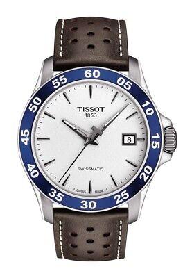 New Tissot V8 SwissMatic Automatic Leather Strap Mens Watch T1064071603100