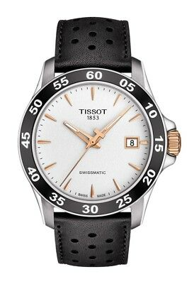 New Tissot V8 SwissMatic Automatic Leather Strap Mens Watch T1064072603100