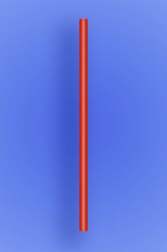"""300 Disposable 9"""" RED Plastic Straight Straws - Giant Size - Heavy Duty"""