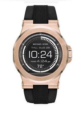 Michael Kors MKT5010 Dylan Touch Screen Smart Watch Rose Gold Tone Silicone Band