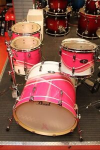 Pearl breast cancer drum kit