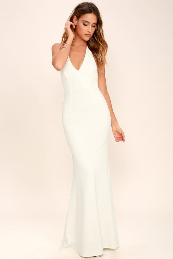 Halter neck wedding dress from Lulu\'s - unsused, size S-M   in ...