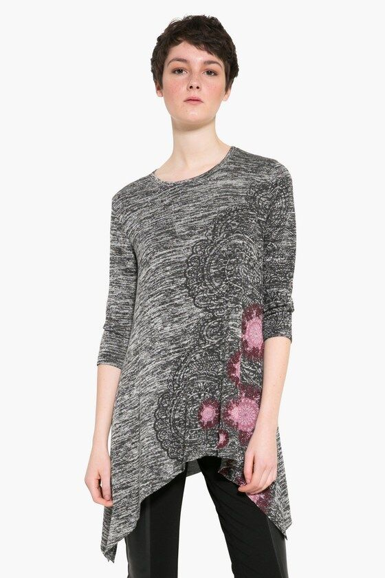 Desigual Agatha gris rose Damen Shirt Tunika Koll. Winter 2017