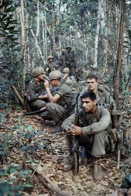 Vietnam War U.S. Army Troops Tired Dazed Stare Says It All Weary 8.5x11 Photo