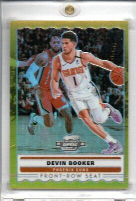 Devin Booker 2019-20 Contenders Optic Front Row Seat Gold Prizm Parallel 2/10