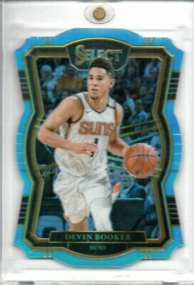 Devin Booker 2017-18 Panini Select Light Blue Die Cut Parallel #115 47/185