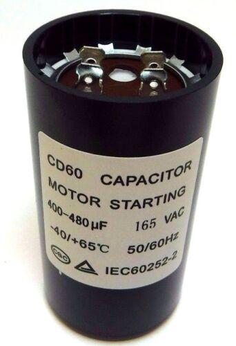 Motor Start Capacitor Round  400-480 uF MFD 165 VAC 46x86mm CD60