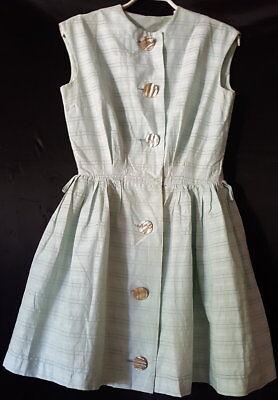 altes Sommerkleid Perlmut Knöpfe 50er Jahre Nr. 1  50er Jahre Kleidung