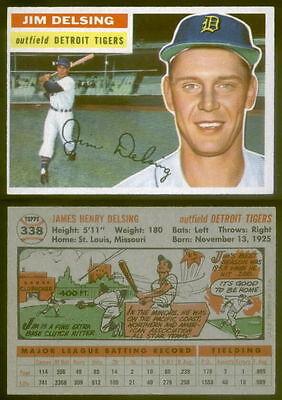 (24398) 1956 Topps 338 Jim Delsing Tigers-EX