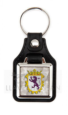 LION SHIELD - KEYCHAIN METAL AND LEATHERETTE (Lion And Shield)