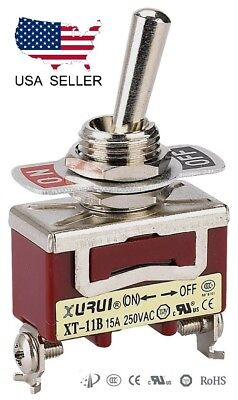 Heavy Duty Spst On-off Momentary Toggle Switch - Screw Terminals 11bf
