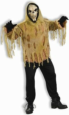 Shrouded Skull Skeleton Ghoul Grim Reaper Scary Dress Up Halloween Adult Costume