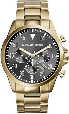 Michael Kors MK8361 Gage Chronograph Black Dial Gold Tone Men