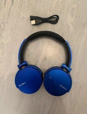Sony MDR-XB650BT On-Ear Bluetooth Wireless Headphones - Electric blue
