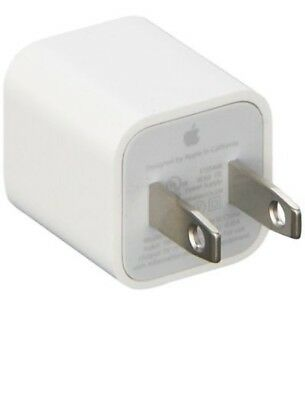 OEM Authentic Apple 5W USB Power Adapter Charger Wall Plug for iPhone X 8 7 iPod