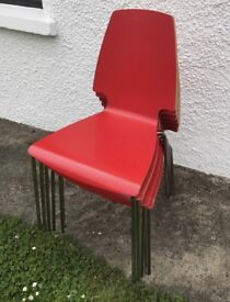 X6 red kitchen / dining chairs