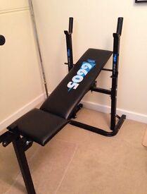 York 6605 Weight training bench + York 50KG Iron cast barbell/dumbbell ser