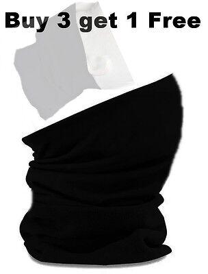 Multifunktionstuch Schlauchtuch Halstuch Kopftuch Motorrad Fahrrad Schwarz 3