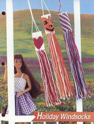 Holiday Windsocks fits Barbie Halloween, July 4th, Heart, Plastic Canvas Pattern](Halloween Windsocks Craft)