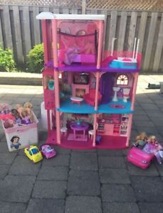 Barbie Dollhouse with MANY EXTRAS