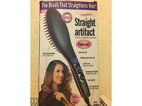 New hair straightener brush