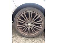 VW GOLF R32 ALLOY WHEEL Tyres 225/40/ZR18