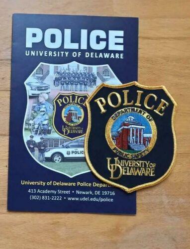 PATCH POLICE PUBLIC SAFETY DELAWARE UNIVERSITY + Presentation Folder Booklet