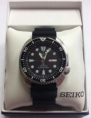 SEIKO Men's PROSPEX Automatic Turtle 200M Rubber Strap Diver's WATCH SRP777