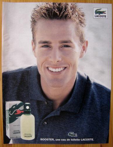 Publicité Papier - Eau de Toilette Lacoste de 1999, Ryan Krause mannequin