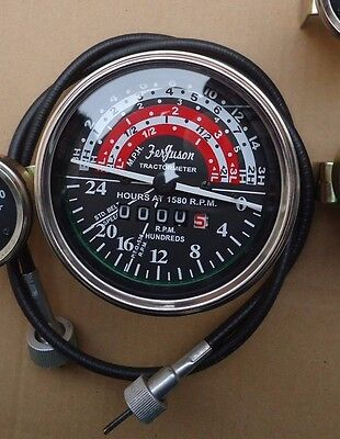 Massey Ferguson Tachometer With Cable Fits Mf35mf50mf65mf135mf150 Tractor