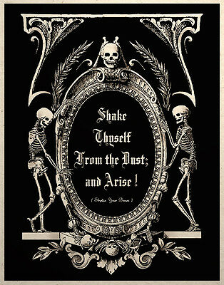 The Undead Arise Gothic Macabre Art Print Memento Mori Grim Reapers