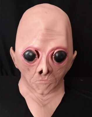 Terrible Alien ET Eye Latex Mask Full Head Costume Gag Party Scare Halloween  - Et Mask Costume