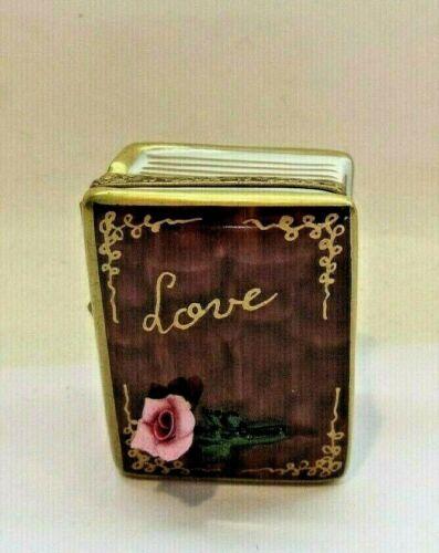 Peint Main Limoges Trinket - Book Of Love