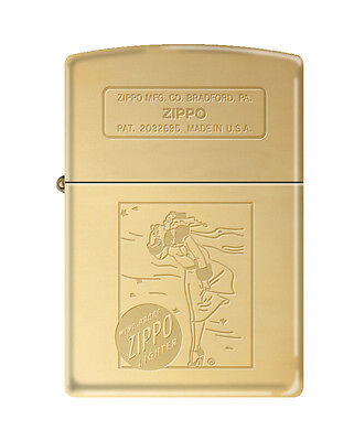 Zippo 1935 Vintage Windy Girl Brass Windproof Lighter NEW RARE on Rummage