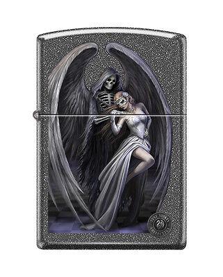 "Zippo ""Anne Stokes-Grim Reaper & Woman"" Iron Stone Lighter, Full Size, 0572"
