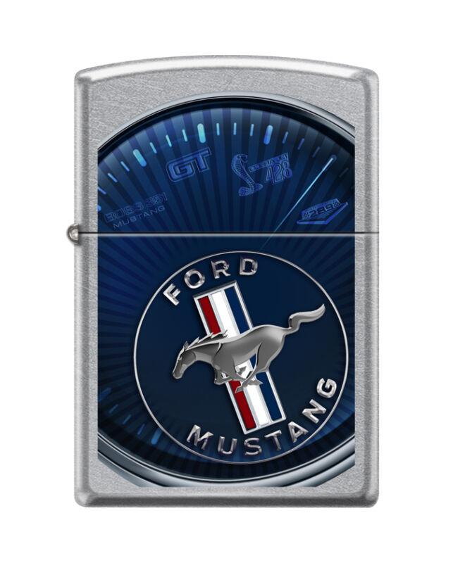 """Zippo 8470,   """"Ford Mustang """" Street Chrome Finish Lighter"""