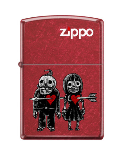 """Zippo 1792, """"Zombies-Never Leave You"""" Candy Apple Red Finish Lighter"""