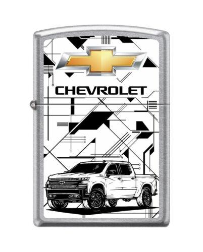"""Zippo 1116,   """"Chevrolet Bowtie Design & Truck"""" Street Chrome Finish Lighter"""