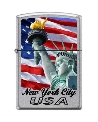 Zippo Lighter New York City Statue of Liberty US Flag