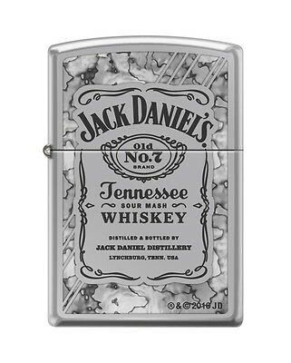 """Zippo """"Jack Daniel's Old No. 7 Tennessee Whiskey"""" Fusion Chrome Lighter, 0042"""