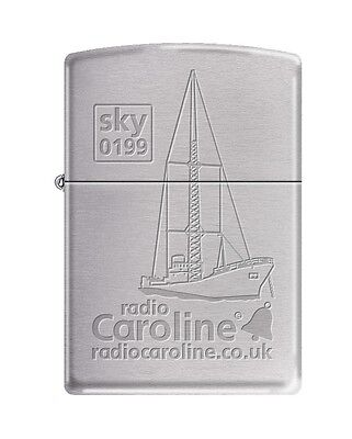 Radio Caroline Engraved Zippo Lighter .