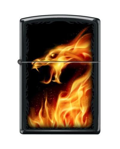 "Zippo 4810, ""Fire Dragon"" Black Matte Finish Lighter"