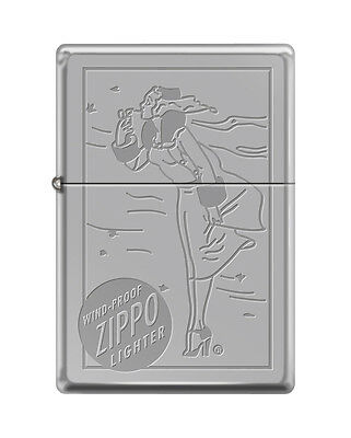 Zippo Windproof 1937 Replica Lighter With Windy & Logo Engraved, New In Box
