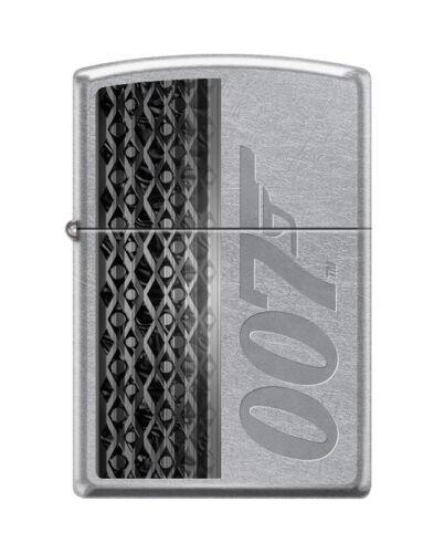 """Zippo 2398, """"James Bond 007 Gun Logo"""" Street Chrome Finish Lighter"""