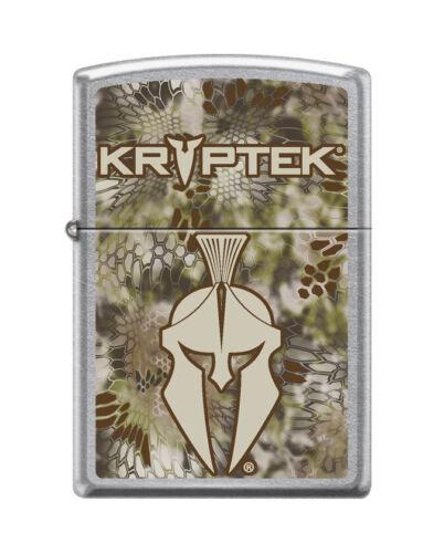 """Zippo 1878,   """"Kryptek"""" Logo Street Chrome Finish Lighter"""