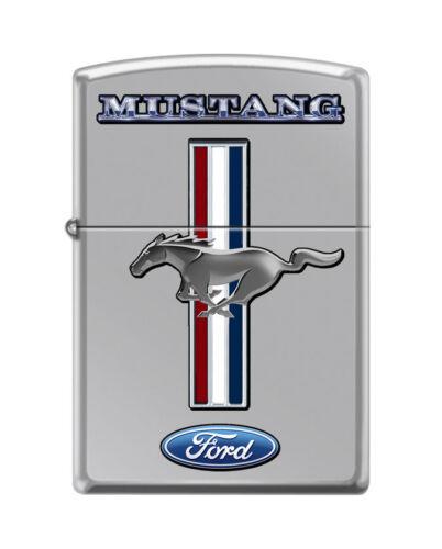 "Zippo 8472,  ""Ford Mustang "" High Polish Chrome Finish Lighter"