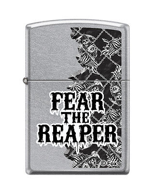 Zippo 8401  Sons Of Anarchy Fear The Reaper  Street Chrome Finish Lighter