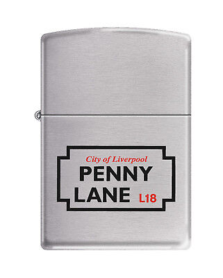 Beatles PENNY LANE Road Sign Zippo Lighter .