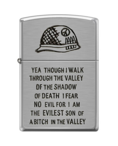 Zippo 0684, Military-Walk Through the Valley of Shadow of Death, Chrome Lighter